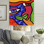 Rullegardiner på nett abstrakt kunst